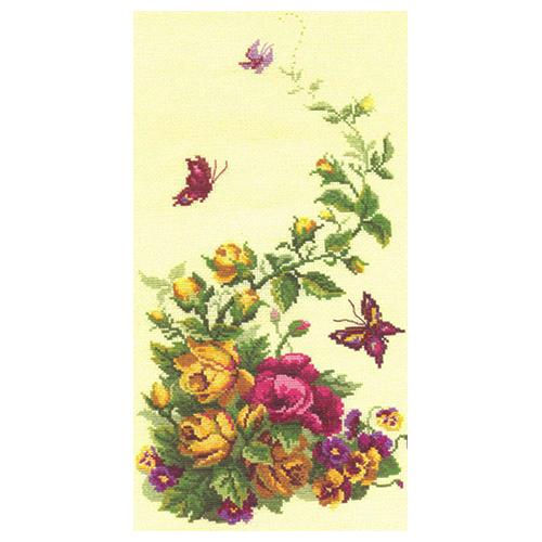 215 Набор для вышивания Чарівна Мить 'Триптих Полевые цветы', 22*41 см