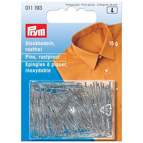 011193 Булавки (латунь) для штор, рубашек, блузок 103 серебряный цвет 0,65*26мм Prym