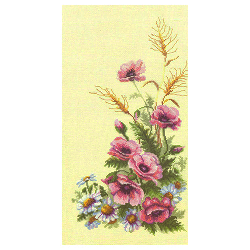 231 Набор для вышивания 'Чарівна Мить' Триптих 'Полевые цветы', 23*42 см