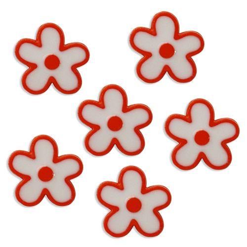 Пуговица, Цветы (IA041-W2) 24L/1, 6шт/упак