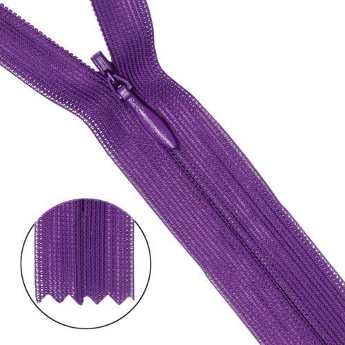 31326/50 Молния потайная тип 3 50см фиолет.нейлон