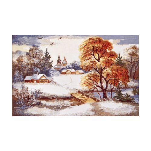 752 Набор для вышивания Hobby&Pro 'Первый снег', 49*31 см