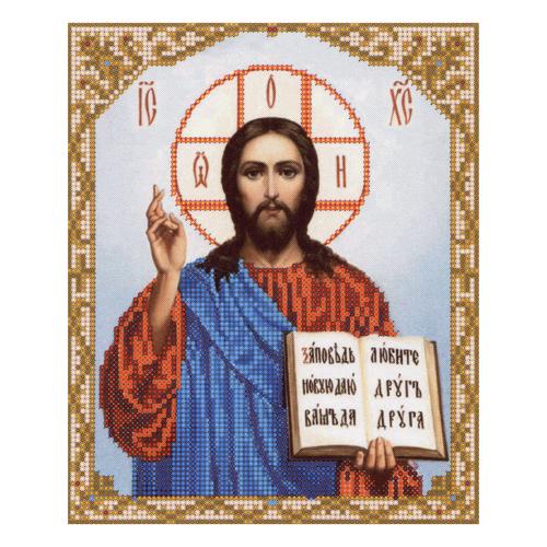 4009 Ткань с нанесенным рисунком для вышивания бисером 'Господь Вседержитель' 25*30 см