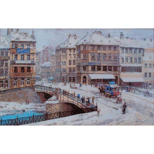 908 Набор для вышивания Riolis по мотивам картины Л.Зайчика 'Вена', 63*40 см
