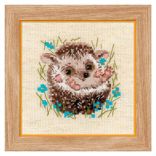 1753 Набор для вышивания Риолис 'Маленький ёжик' 13*13см