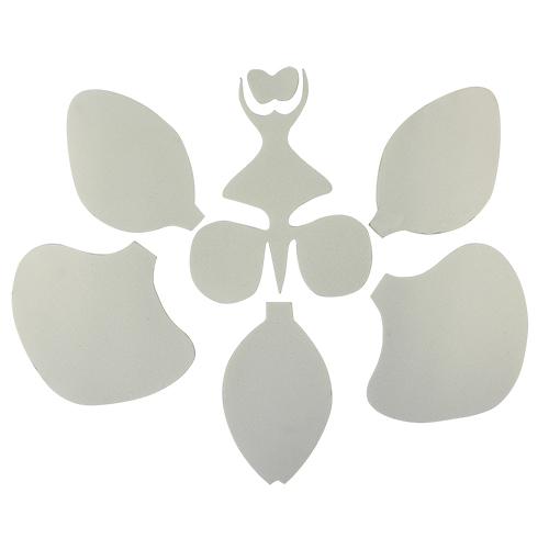 фом1-1 Заготовка из фоамирана 'Набор Орхидея', 5х5 см, белый