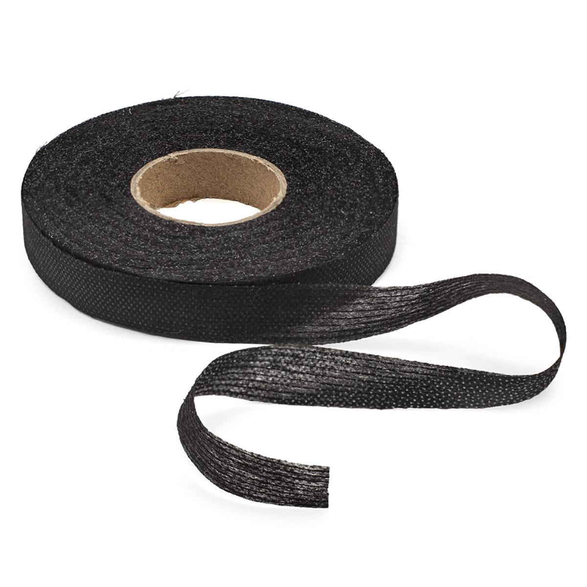Лента нитепрошивная клеевая 15мм графит.