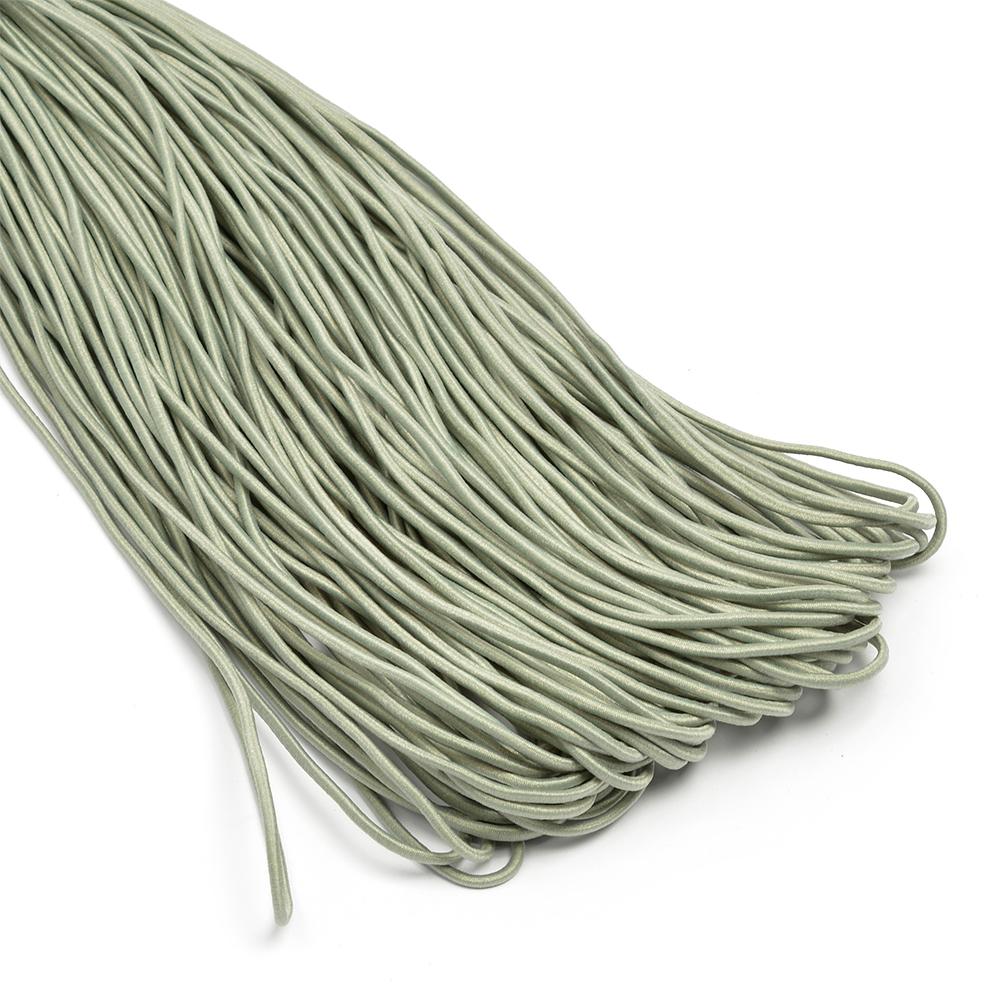 Резинка TBY шляпная (шнур круглый) цв.F317 серый 2мм рул.100м, ШЛ2F317