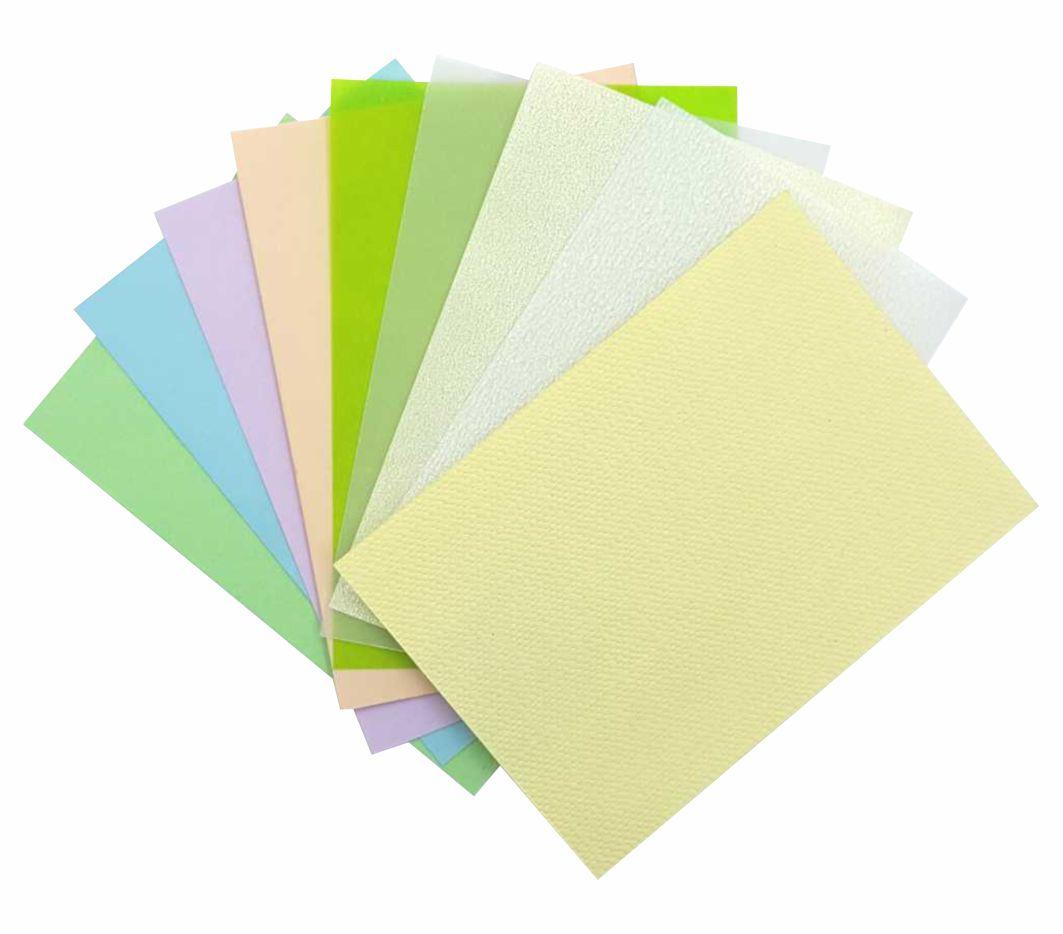 Набор бумаги 140гр+дизайнерская калька 100гр, Ассорти №5 (9л*уп)