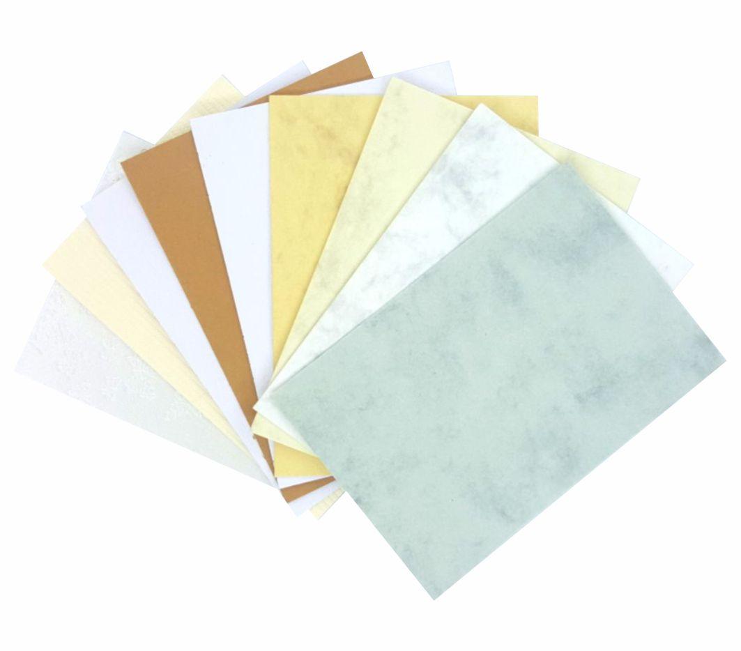 Набор бумаги с тиснением, Ассорти №6 300гр (9л*уп)