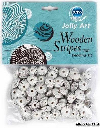 Набор для создания украшений деревянных бусин Jolly Art WBS.026