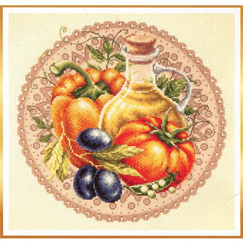 54-01 Набор для вышивания Чудесная игла 'Средиземноморский салат' 27*27см