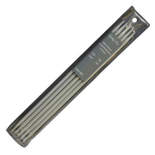 940505 Спицы носочные алюминиевые с покрытием 20см, 5,0мм Hobby&Pro
