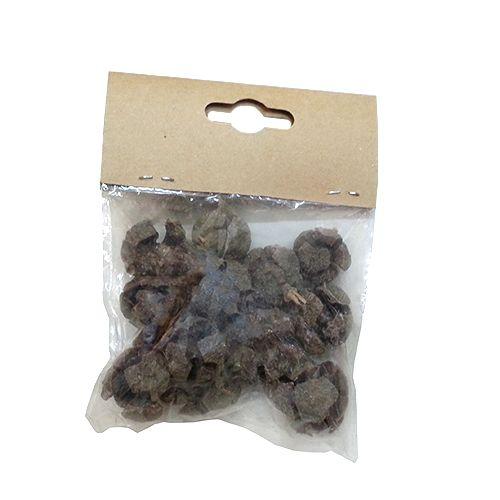YW054 Декоративные элементы натуральные. Шишка кипариса, 1-2 см, 30гр