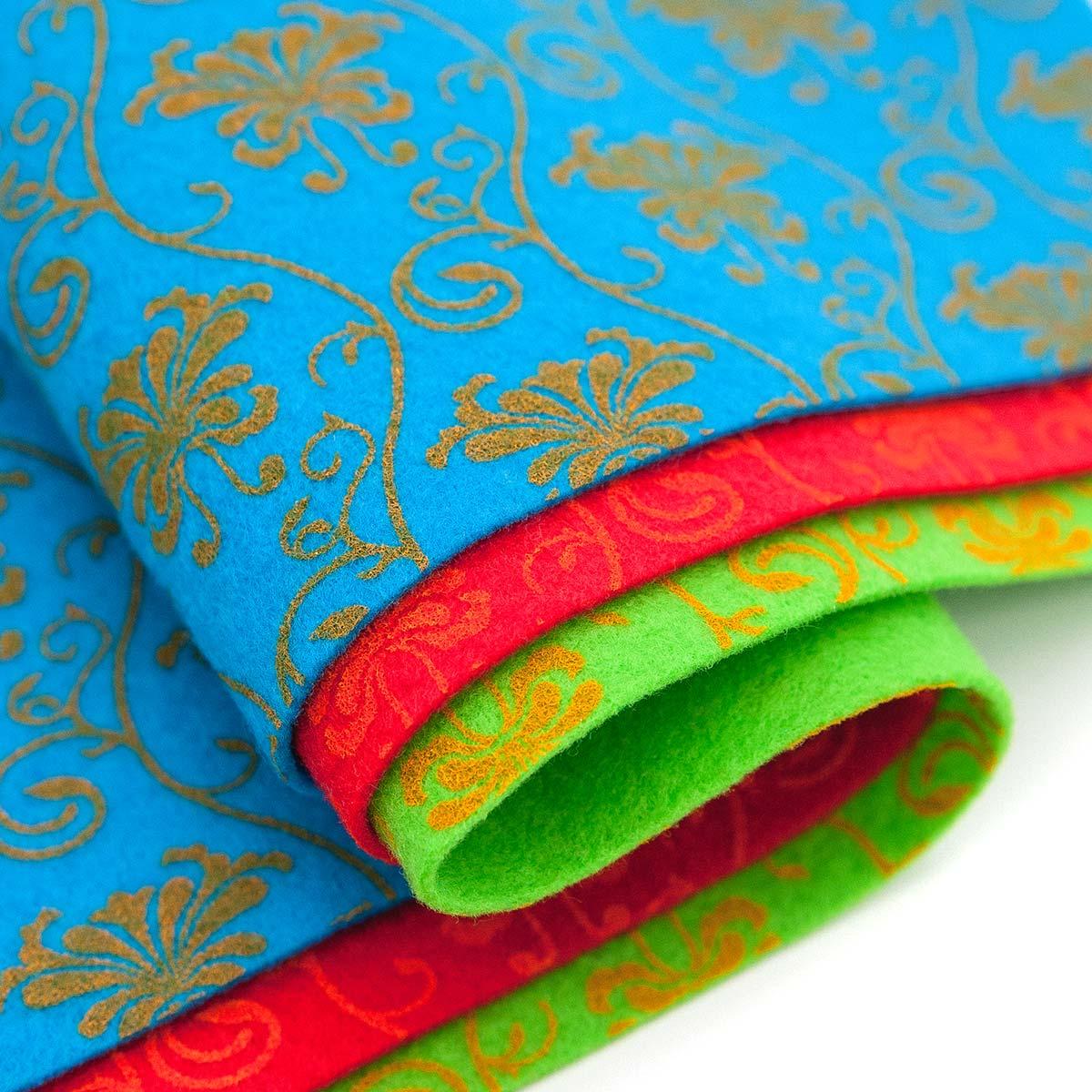Фетр листовой декоративный 'Барокко' Астра, 1,0мм, 180 гр, 20х30см, 3 шт/упак