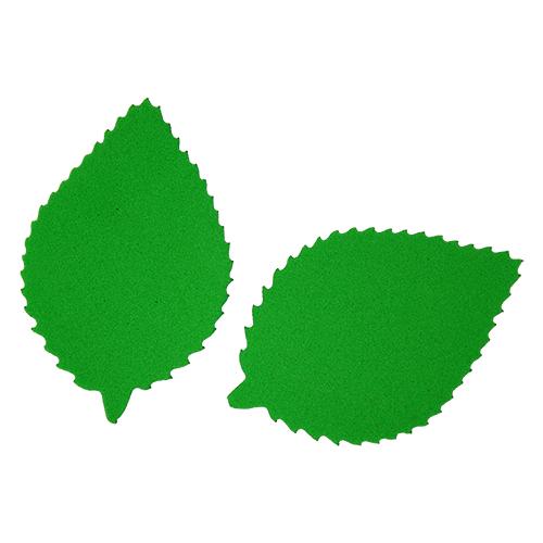 фом8-1-1 Заготовка из фоамирана 'Лист пильчатый', 5х3 см,10шт, зелёный
