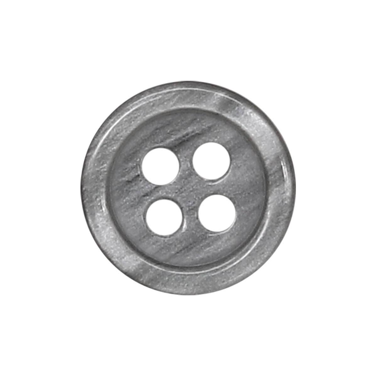 35483/4 18 (3504) Пуговица 4прокола сер.глянц.полиэстер