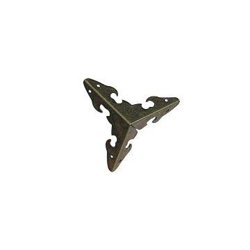 SUM-07 Декоративный уголок для шкатулок, 28*28*28мм, уп.8шт, бронза