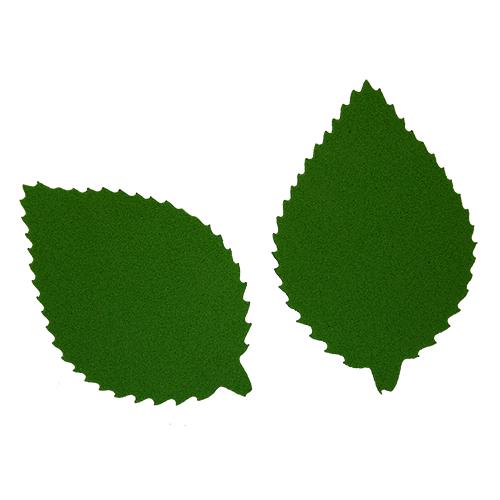 фом8-1-2 Заготовка из фоамирана 'Лист пильчатый', 5х3 см,10шт, тёмно-зелёный
