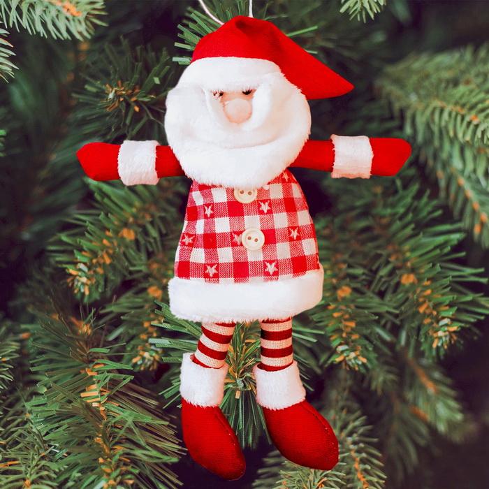 3441973 Набор для создания подвесной елочной игрушки из фетра 'Дед мороз в красных сапожках'