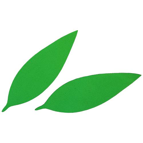 фом9-1-1 Заготовка из фоамирана 'Лист вытянутый', 10х3 см,10шт, зелёный
