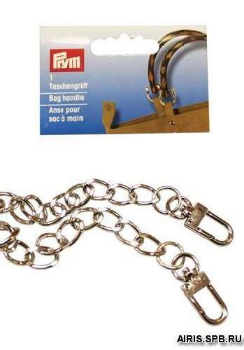 615149 Цепочка для сумки 'Mia' 70см, серебристый цв. Prym