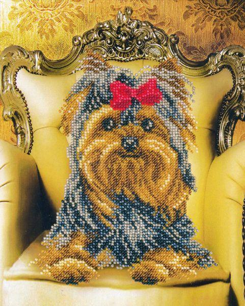 605 Набор для вышивания бисером 17,8*22,4см (Принцесса Йоркширская арт.КН-600)