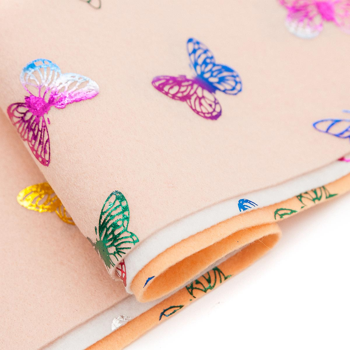 Фетр листовой декоративный 'Бабочки' Астра, 1,0мм, 180 гр, 20х30см, 3 шт/упак