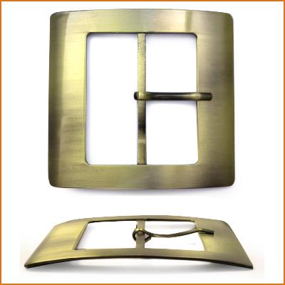 ГХН14226 Пряжка 60мм ушко, 84*81 мм, тертая бронза