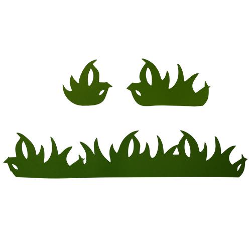 фом12-1-2 Заготовка из фоамирана 'Трава', высота 5 см, 3вида по 5шт, тёмно- зелёный