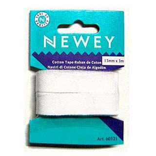 60521 NEWEY Тесьма брючная х/б, ширина 13 мм, длина 3 метра, цв. белый