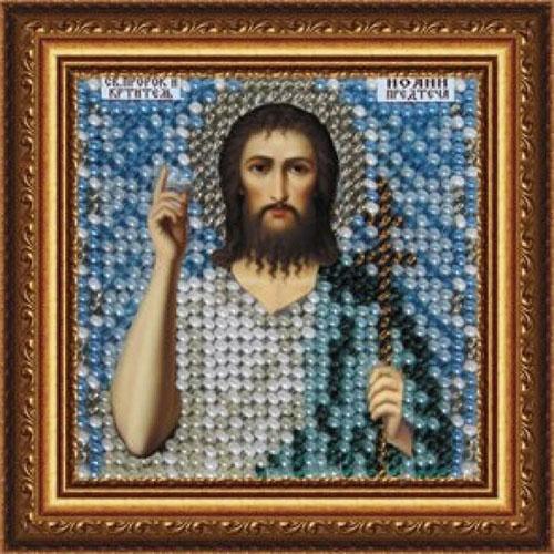 083ПМИ Набор для вышивания бисером 'Вышивальная мозаика' Икона 'Св. Иоанн Предтеча', 6,5*6,5 см