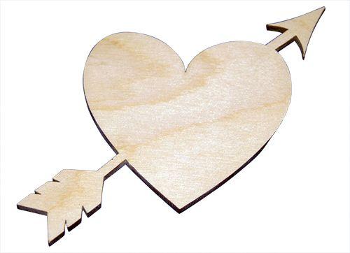 L-145 Деревянная заготовка 'Сердце со стрелой', 15*15 см, 'Астра'