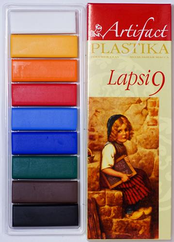 7109-8 Пластика отверждаемая Lapsi, 9 цветов, упак./180 гр.
