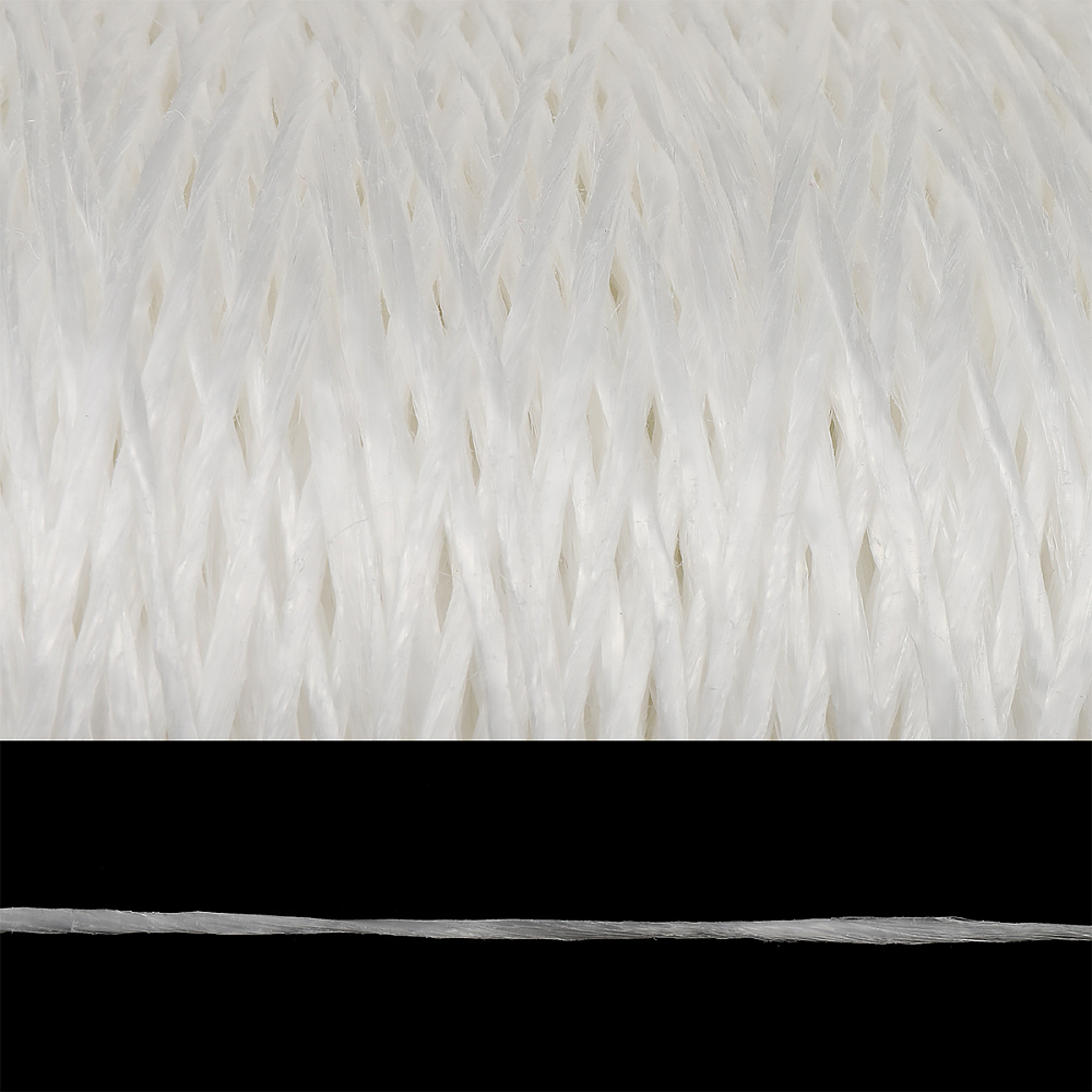 Шпагат полипропиленовый 1000 Текс клубок цв.белый уп.500гр, ШППП500