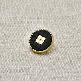 Пуговица металл ПМ40 черный матовая, 2135001250067
