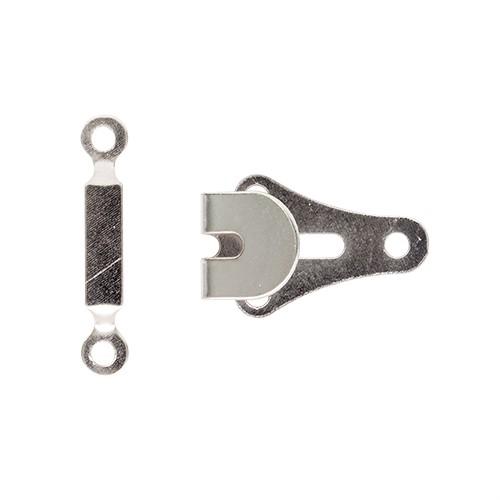 0300-0209 Крючок пришивной юбочный, никель