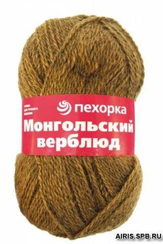 Пряжа Пехорка 'Монгольский верблюд' 100гр, 300м, (50% вербл. шерсть, 50% акр. высокообъем.)