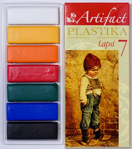 7107-8 Пластика отверждаемая Lapsi, 7 цветов, упак./140 гр.