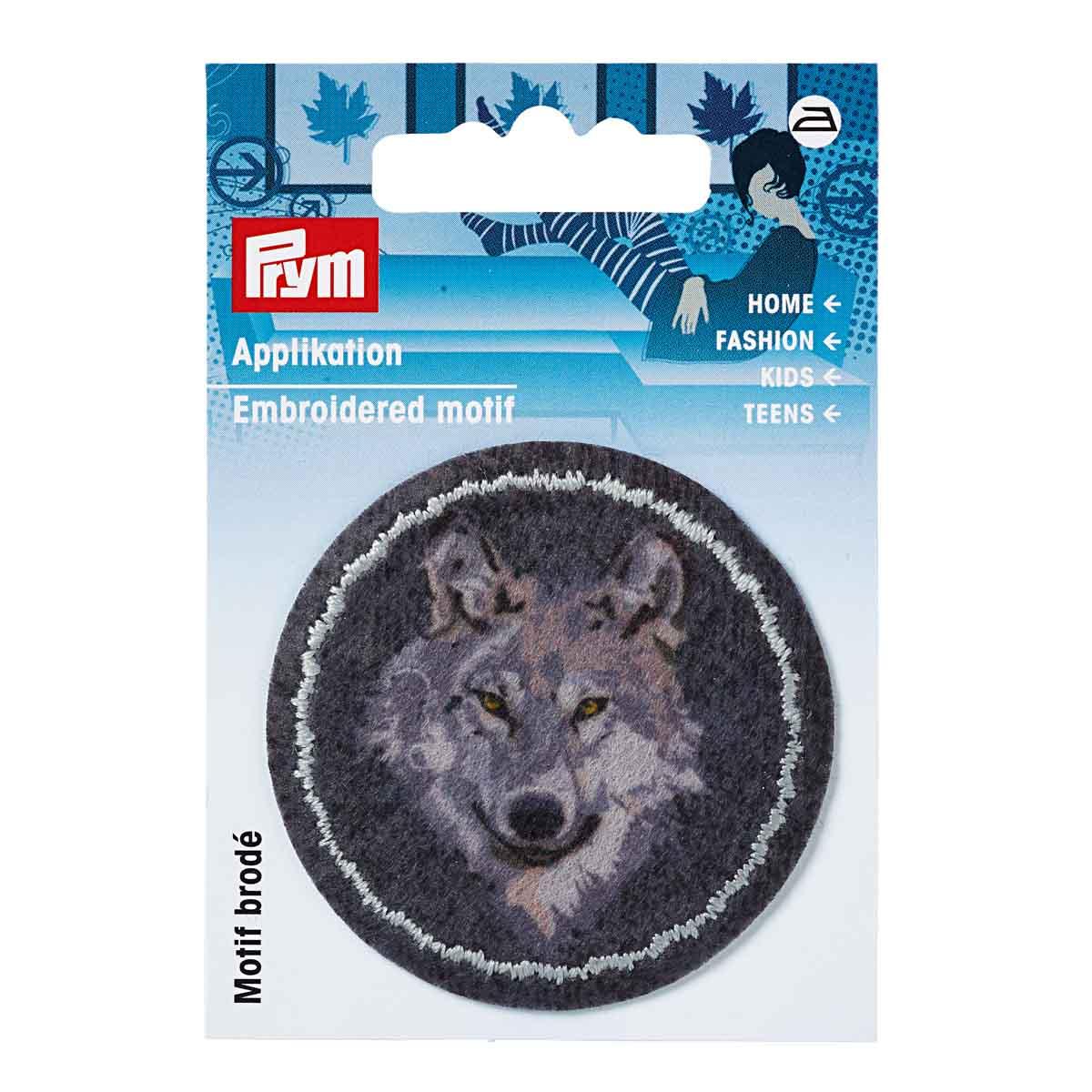 923178 Термоаппликация Заплатка Волк сер./антр. 1шт. Prym
