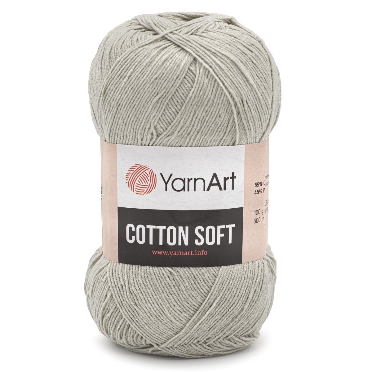 Пряжа YarnArt 'Cotton soft' 100гр. 600м. (55%хлопок+45%акрил)ТУ