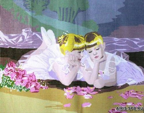 9880.0132.0187 Канва с рисунком Royal Paris 'Маленькие балерины' 45*60 см