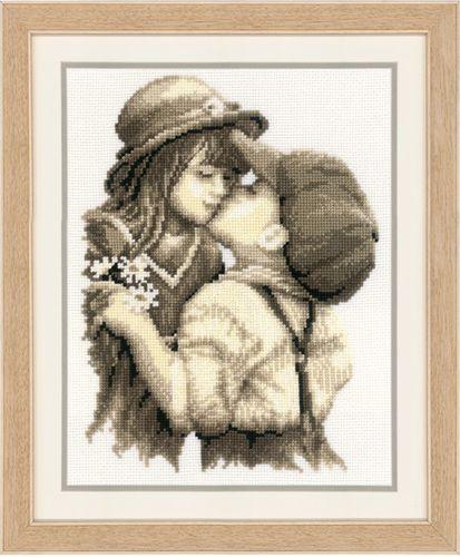 0011873-PN Набор для вышивания Vervaco 'Первый поцелуй' 20x26см