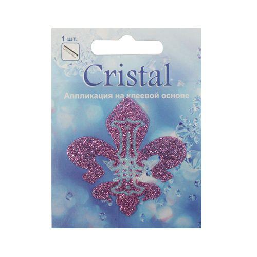18212 Аппликация на клеевой основе,'Лилия',Cristal