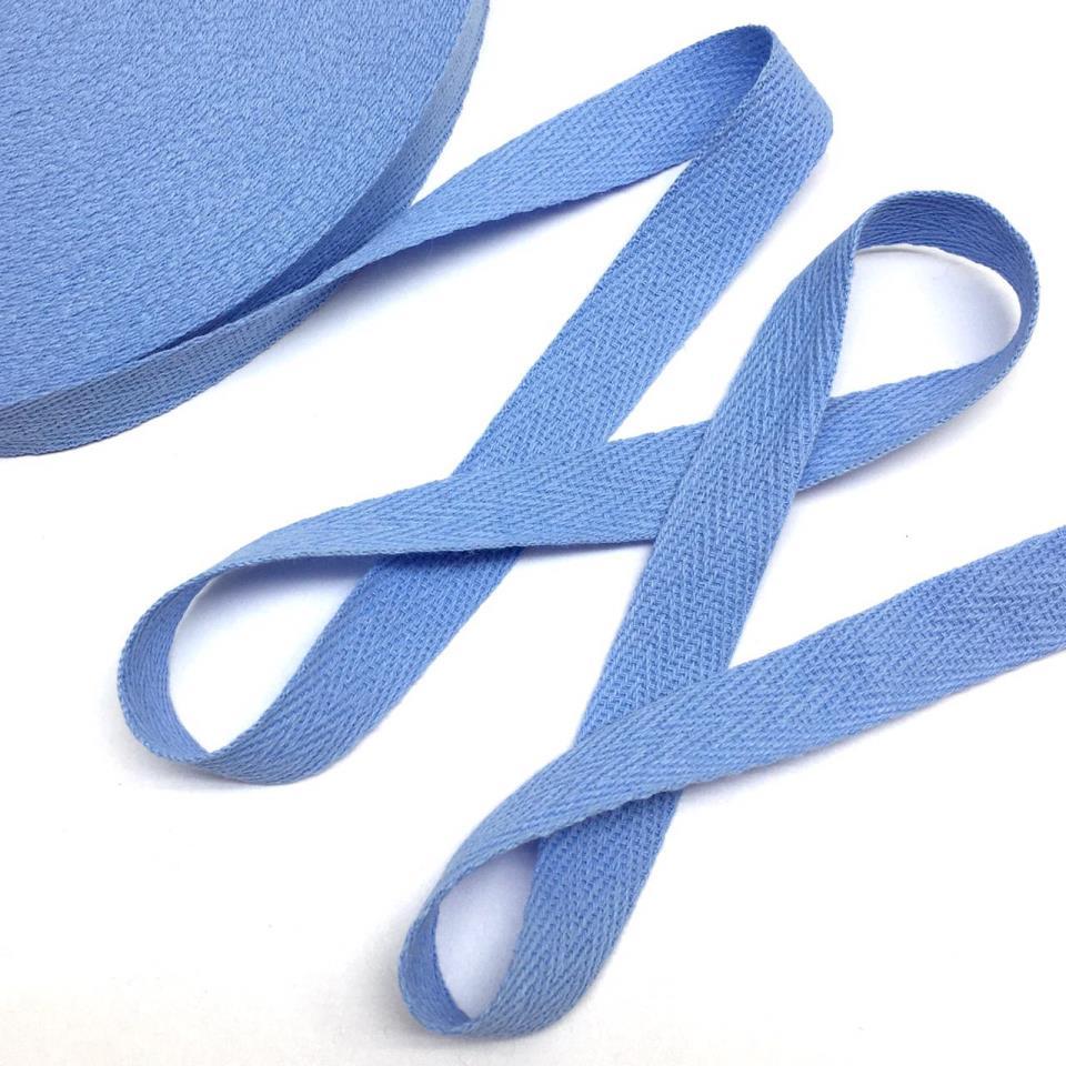 Лента киперная голубой 1,5см 43м
