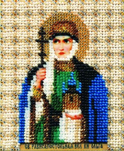 Б-1035 Набор для вышивания бисером 'Чарівна Мить' 'Икона равноапостольная великая кн. Ольга', 11*9 см