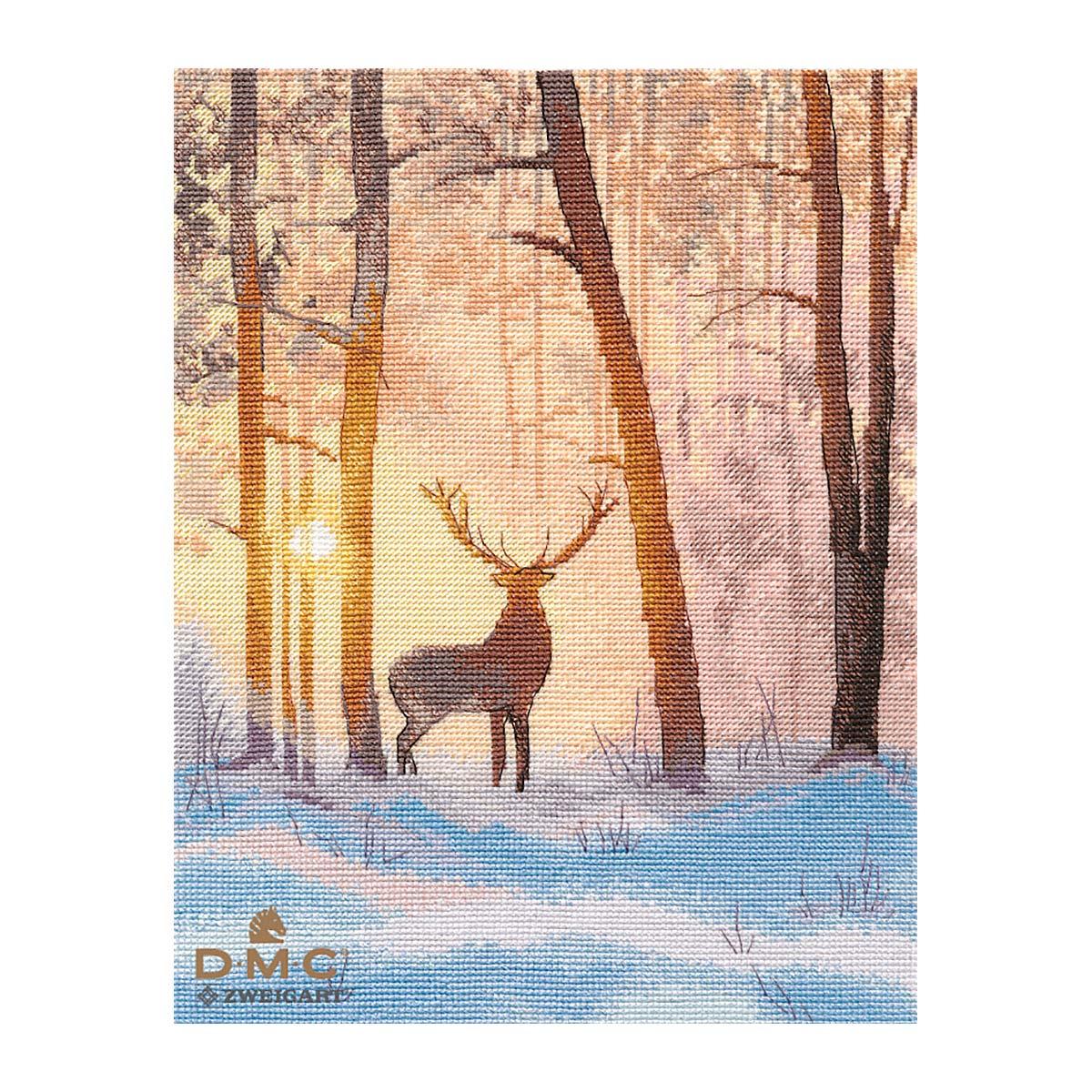 1399 Набор для вышивания ОВЕН 'В зимнем лесу' 20*26 см