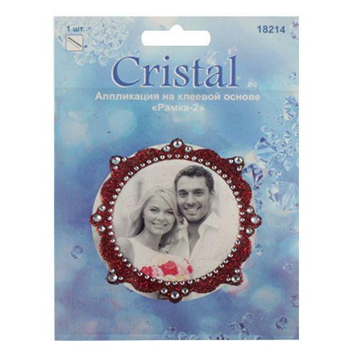 18214 Аппликация на клеевой основе,'Рамка-2',Cristal