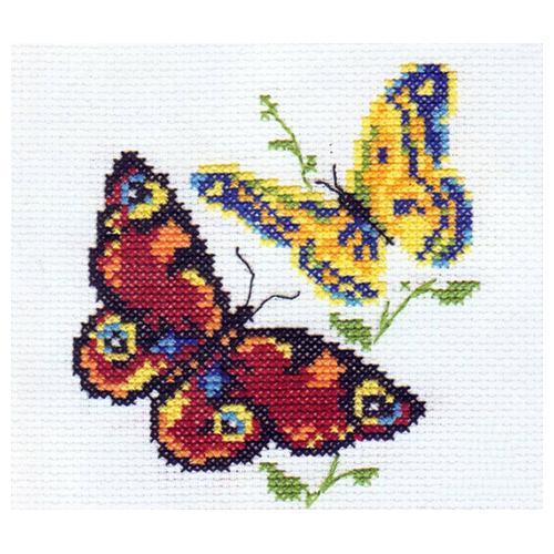 0-50 Набор для вышивания АЛИСА 'Бабочки-красавицы' 10*11см