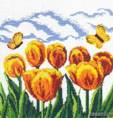 БК- 19 Набор для вышивания МП Студия 'Желтые тюльпаны' 27x27 см